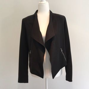 Banana Republic Factory black moto jacket